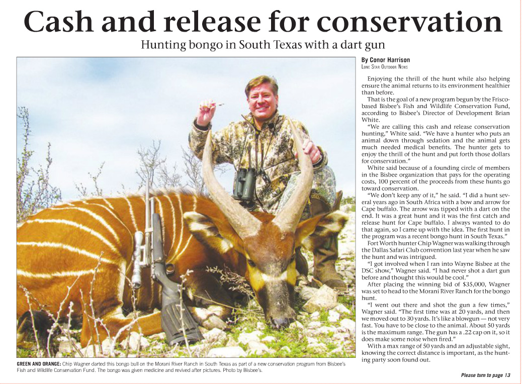 Cash and Release for Conservation
